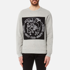 Diesel Men's Samuel Sweatshirt - Light Grey Melange