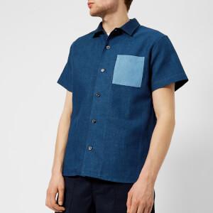 A.P.C. Men's Chemise Michael Shirt - Indigo Delave