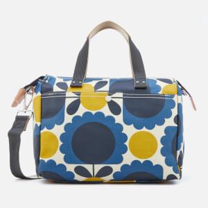 Orla Kiely Women's Laminated Scallop Flower Spot Small Zip Messenger Bag - Denim