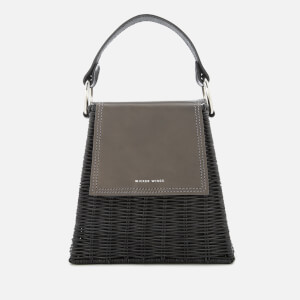 Wicker Wings Women's Tall Tixing Wicker Bag - Grey/Black