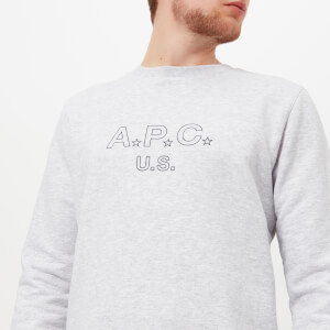 A.P.C. Men's U.S. Star Sweatshirt - Gris Chine