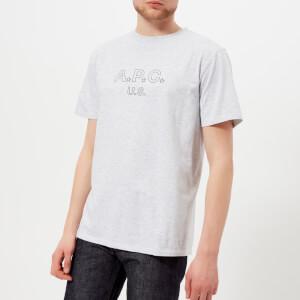 A.P.C. Men's U.S. Star T-Shirt - Gris Chine