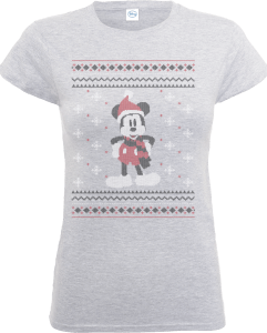 Disney Mickey Mouse Mickey Wrapped Up Women's Grey T-Shirt