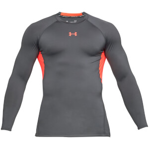 Under Armour Men's HeatGear Armour Long Sleeve Top - Grey