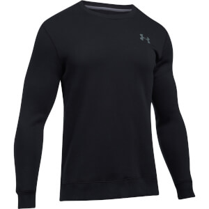Under Armour Men's Rival Solid Fitted Crew Sweatshirt - Black