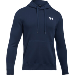 Under Armour Men's Rival Fitted Pull Over Hoody - Navy