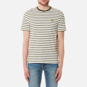 Lyle & Scott Men's Breton Stripe T-Shirt - Olive