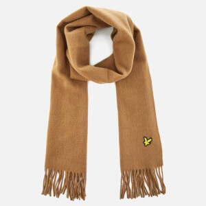 Lyle & Scott Men's Plain Woven Lambswool Scarf - Camel