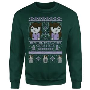 Jaiden Festive Forest Green Sweatshirt