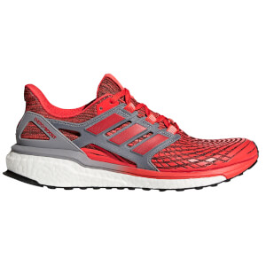 adidas Men's Energy Boost Running Shoes - Red/Grey
