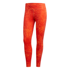 adidas Women's Supernova How We Do 7/8 Running Tights - Coral/Scarlet