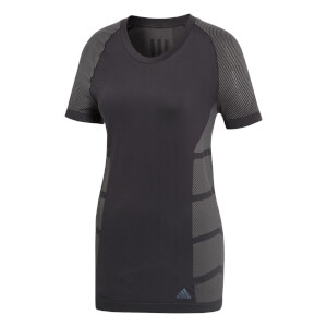 adidas Women's Ultra Light Running T-Shirt - Black/Grey