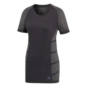 adidas Women's Ultra Light Running T-Shirt - Black/Grey