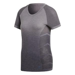 adidas Women's Ultra Wool Running T-Shirt - Grey/Black