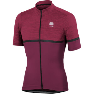 Sportful Giara Jersey - Bordeaux/Raspberry Wine/Black