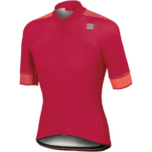 Sportful BodyFit Pro Classics Jersey - Raspberry Wine/Coral Fluo