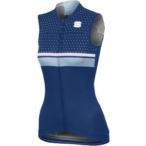 Sportful Women's Diva Sleeveless Jersey - Blue Twilight/White/Cerulean