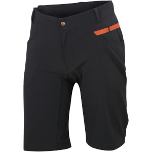 Sportful Giara Over Shorts - Black/Orange