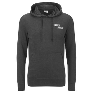 Jack & Jones Men's Core Cell Hoody - Dark Grey Marl