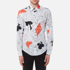 Vivienne Westwood MAN Men's Classic Poplin Stretch Printed Shirt - White Print