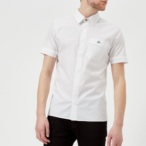 Vivienne Westwood MAN Men's Classic Poplin Short Sleeve Shirt - White