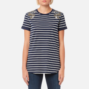 Barbour Heritage Women's Wildflower T-Shirt - Dress Blue