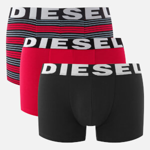 Diesel Men's Shawn 3 Pack Boxers - Red Stripe