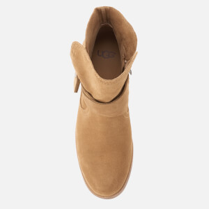 UGG Women's Elora Suede Heeled Ankle Boots - Chestnut: Image 3