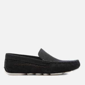 UGG Men's Henrick Stripe Perf Nubuck Drivers - Black
