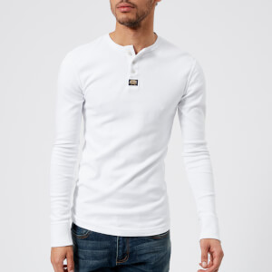 Superdry Men's Heritage Long Sleeve Grandad Top - Optic White