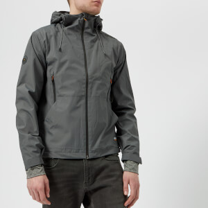 Superdry Men's Hooded Elite Windcheater Jacket - Dark Charcoal