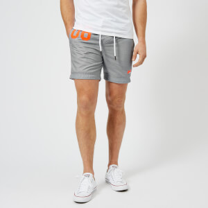 Superdry Men's Water Polo Swim Shorts - Silver Grey Grit