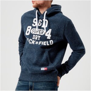 Superdry Men's Trackster Hoody - Lake Blue Grit