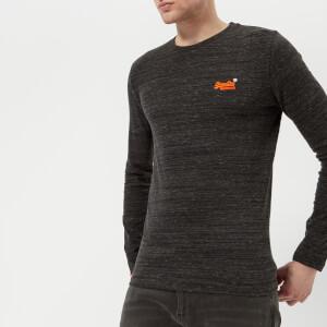 Superdry Men's Orange Label Vintage Long Sleeve T-Shirt - Deep Night Marl Space Dye