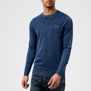 Superdry Men's Garment Dye L.A. Crew Top - Washed Legion Blue