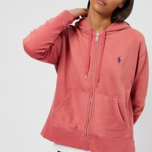 Polo Ralph Lauren Women's Logo Hooded Sweatshirt - Sun Red