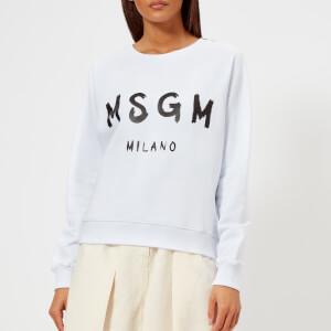 MSGM Women's Graffiti Logo Sweatshirt - White