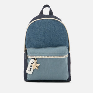 Tommy Hilfiger Women's Logo Tape Mini Backpack - Denim