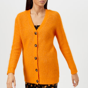 Ganni Women's Evangelista Cardigan - Tumeric Orange