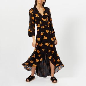 Ganni Women's Fairfax Georgette Dress - Black