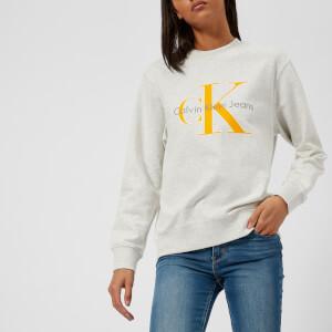 Calvin Klein Women's CK True Icon Sweatshirt - White Heather