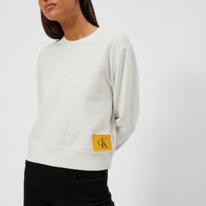 Calvin Klein Women's True Icon Sweatshirt - White Heather