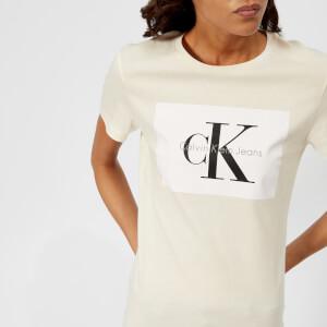 Calvin Klein Women's CK Logo T-Shirt - Pearled Ivory