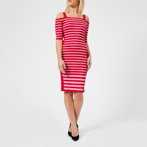 Guess Women's Ruth Dress - Red/Secret Pink
