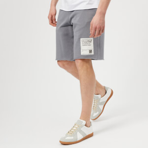 Maison Margiela Men's Cotton Jersey Stereotype Shorts - Shark