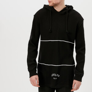 Maison Margiela Men's Cotton Waffle Hoody - Black