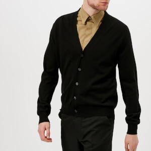 Maison Margiela Men's Elbow Patch Cardigan - Black/Grey