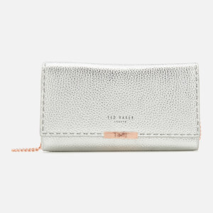 Ted Baker Women's Stab Stitch Matinee Bag with Chain - Silver