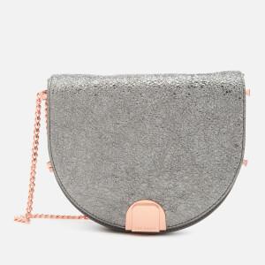 Ted Baker Women's Roxaane Flip Clasp Moon Bag - Gunmetal