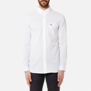 Lacoste Men's Long Sleeved Casual Shirt - Blanc